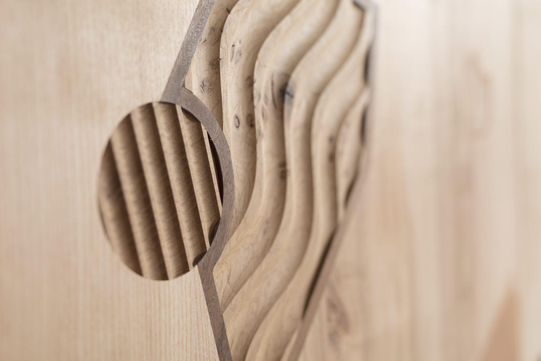 Jan Hendzel Studio wardrobe marquetry detail