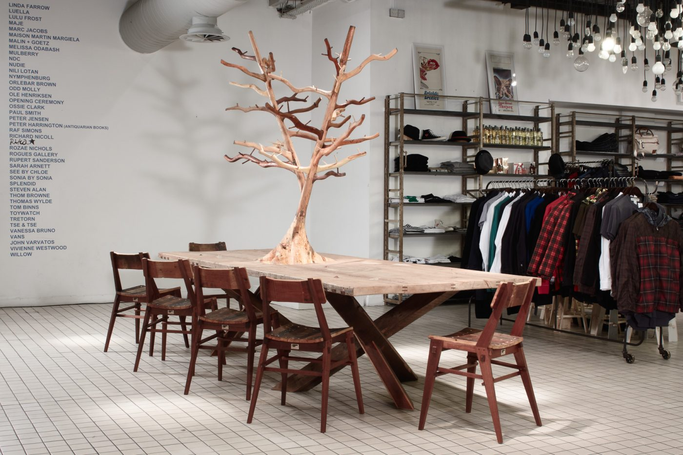 Jan Hendzel Studio Bespoke furniture for Bluebird boutique, Chelsea