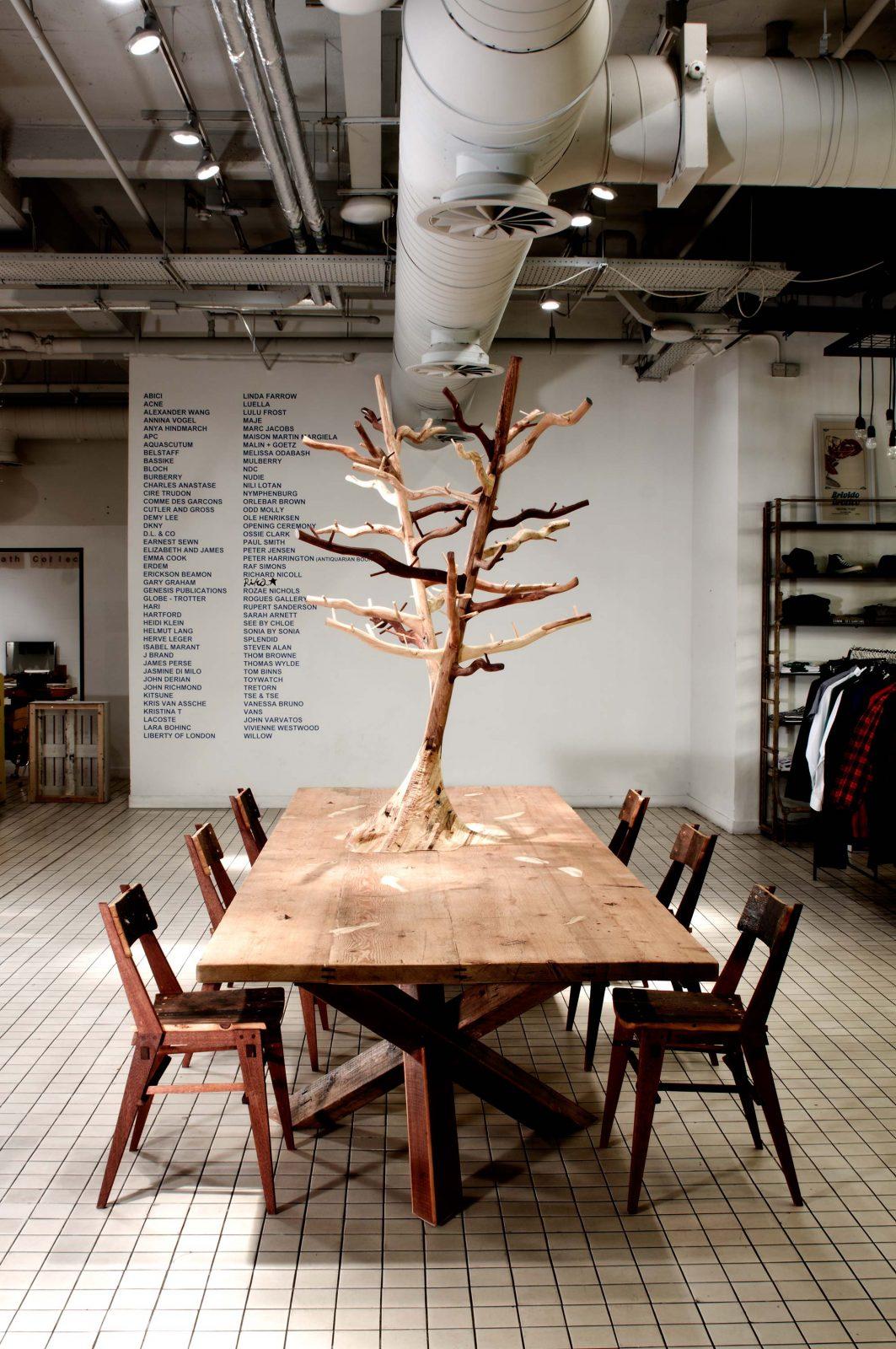 Jan Hendzel Studio Bespoke furniture for Bluebird boutique, Chelsea