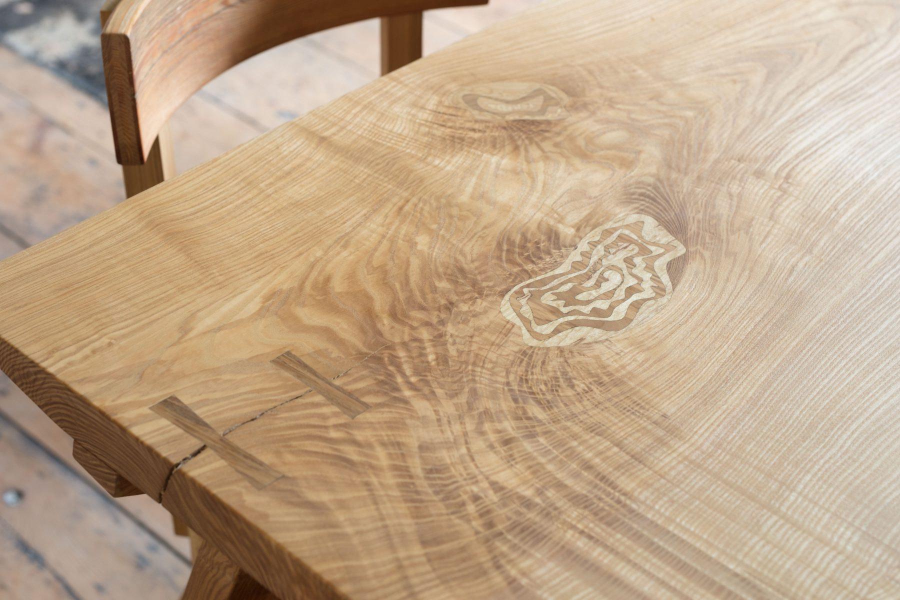 Jan Hendzel Studio olive ash table marquetry-2