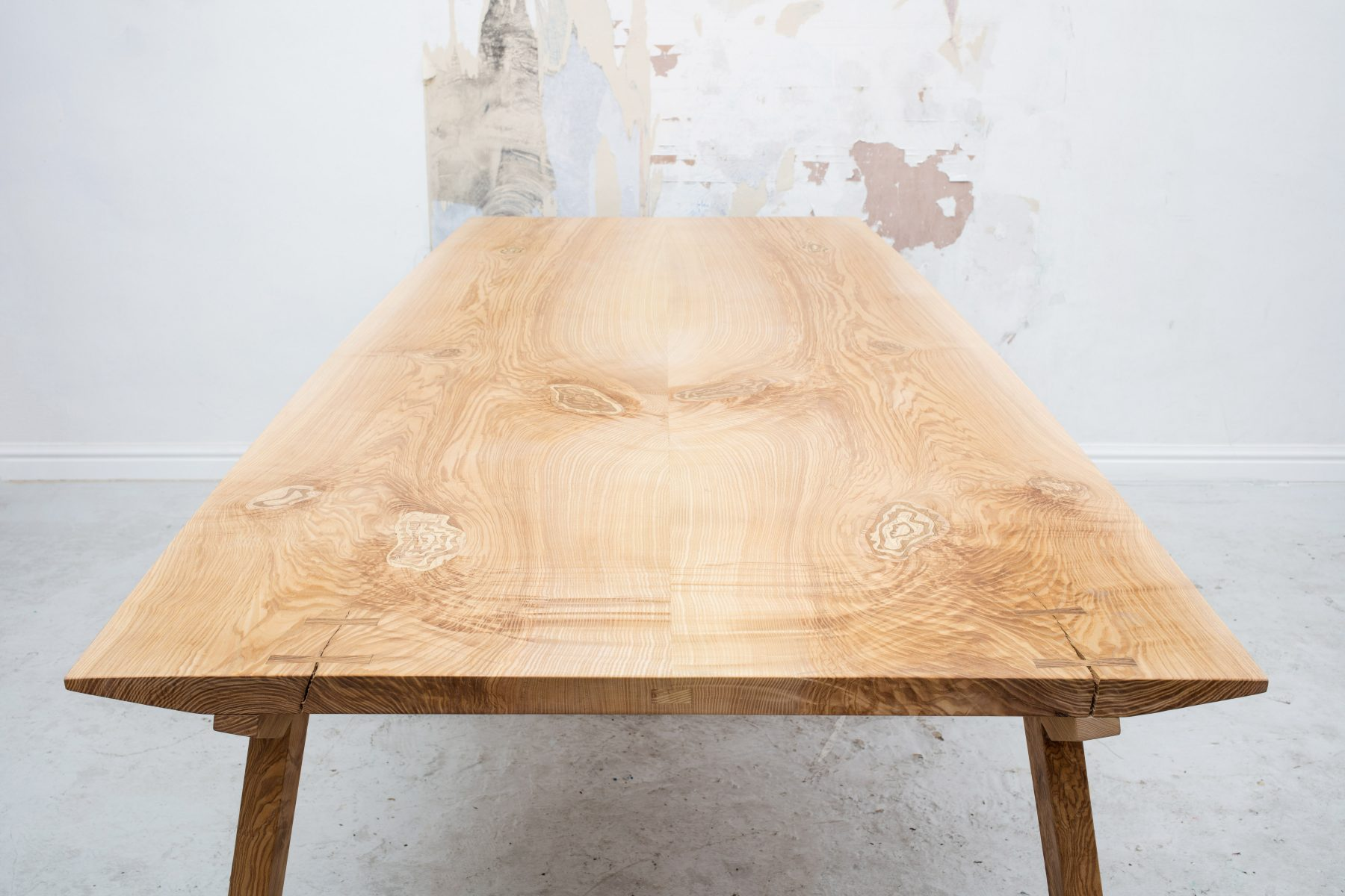 Jan Hendzel Studio olive ash table marquetry-3