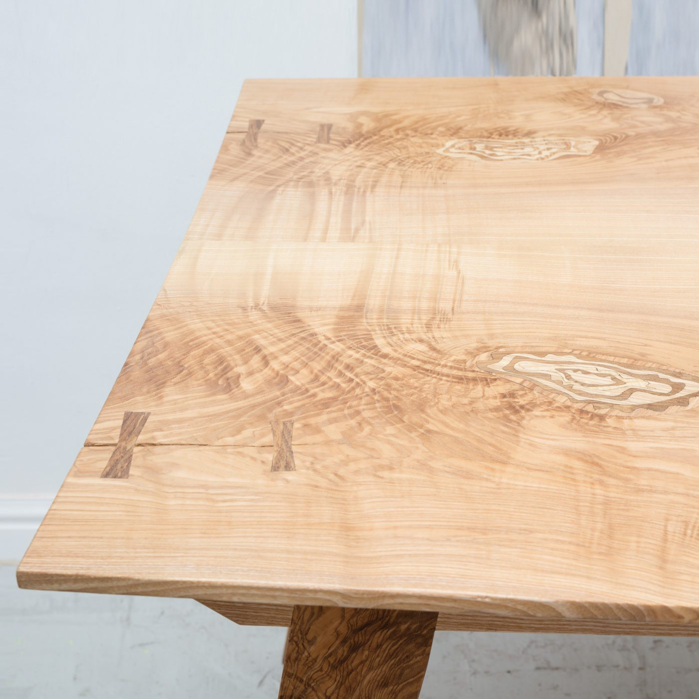 Jan Hendzel Studio olive ash table marquetry-5