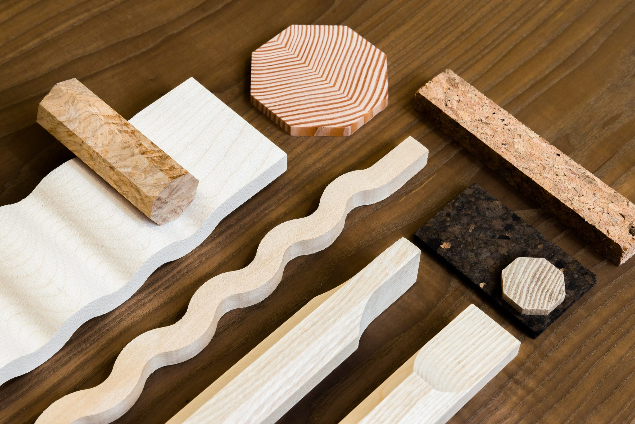 Jan Hendzel Studio Flat lay wood sample-