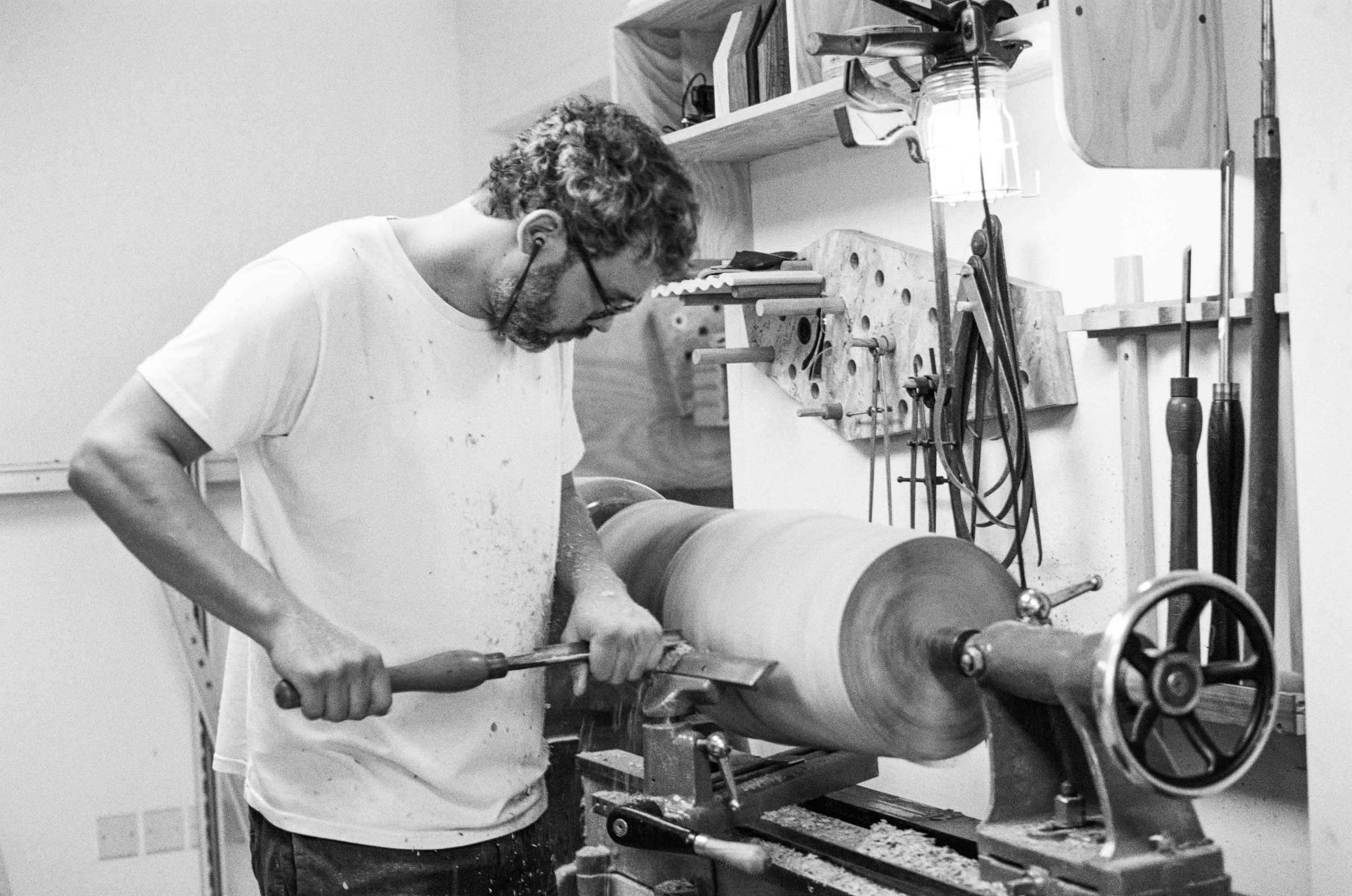 Jan Hendzel Studio turning lathe wadkin